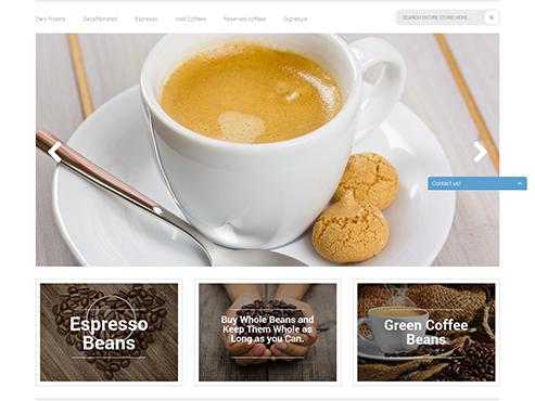 Mẫu web bán Coffee