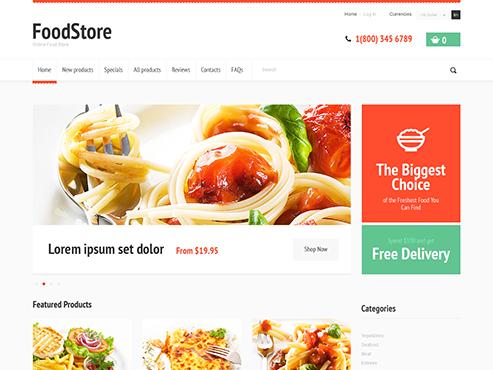 Mẫu web bán đồ ăn ngon