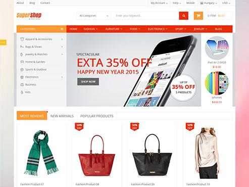 Mẫu web bán hàng mới