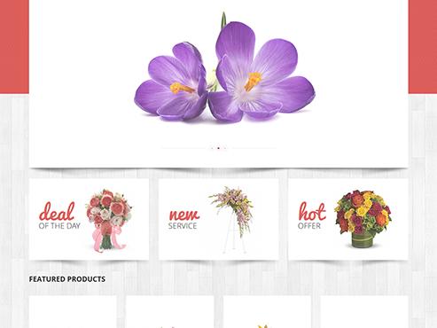 Mẫu web bán Hoa