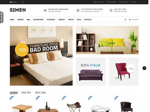 Mẫu web bán nội thất gia dụng