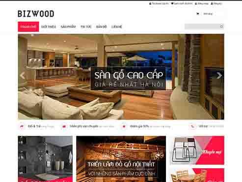 Mẫu web bán nội thất gỗ