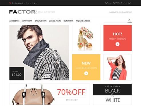 Mẫu web bán quần áo
