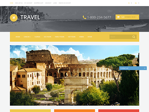 Mẫu web du lịch nước ngoài