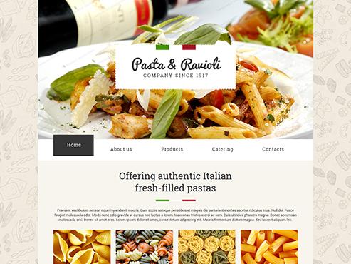 Mẫu web nhà hàng mỳ Í