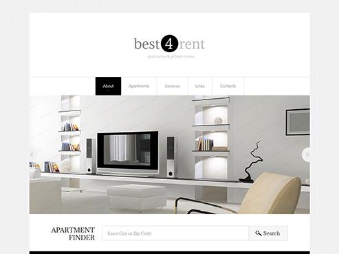 Mẫu web nội thất tinh tế layout 2