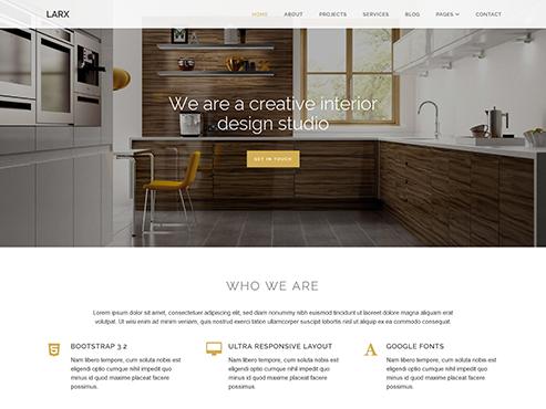 Mẫu web thiết kế nội thất sang trọng