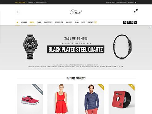 Mẫu web thời trang chuyên bán hàng