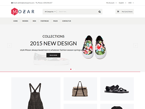Mẫu web thời trang phụ kiện quần áo
