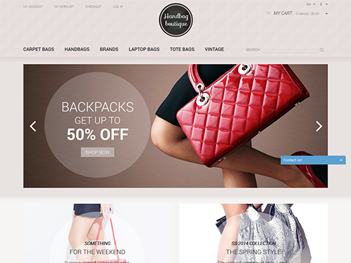 Mẫu web Túi thời trang